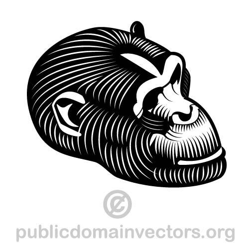 Gorilla vector image in public domain by publicdomainvectors