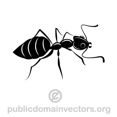 Ant vector image in public domain by publicdomainvectors