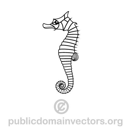 Seahorse vector image in public domain by publicdomainvectors