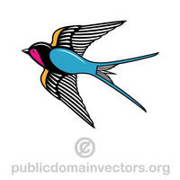 Image of a swallow in public domain