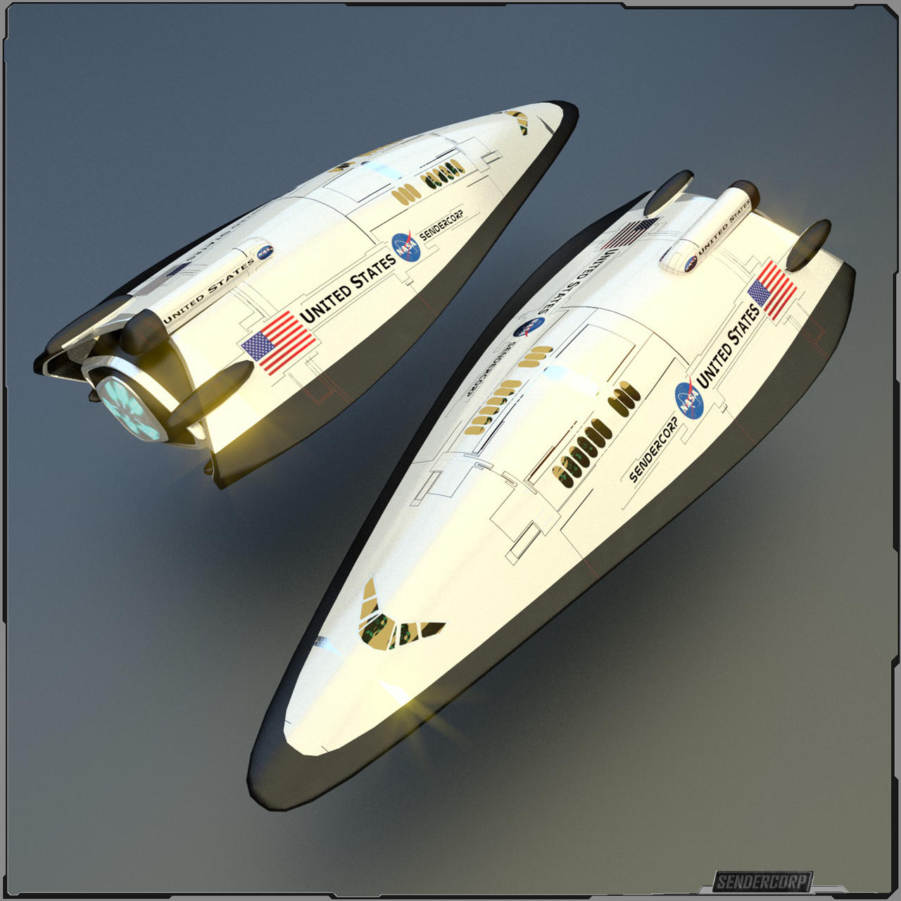 Shuttle XS - 01 by PINARCI on DeviantArt