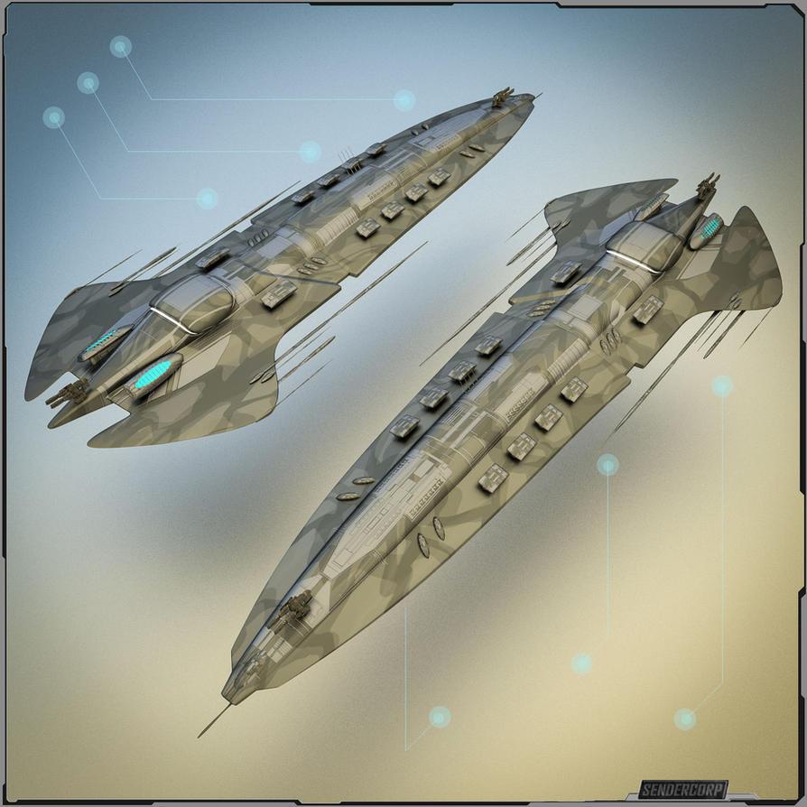 Heavy Battle Cruiser / Big Gunship by PINARCI