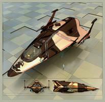 Military shuttle render g 038 c6X WIP