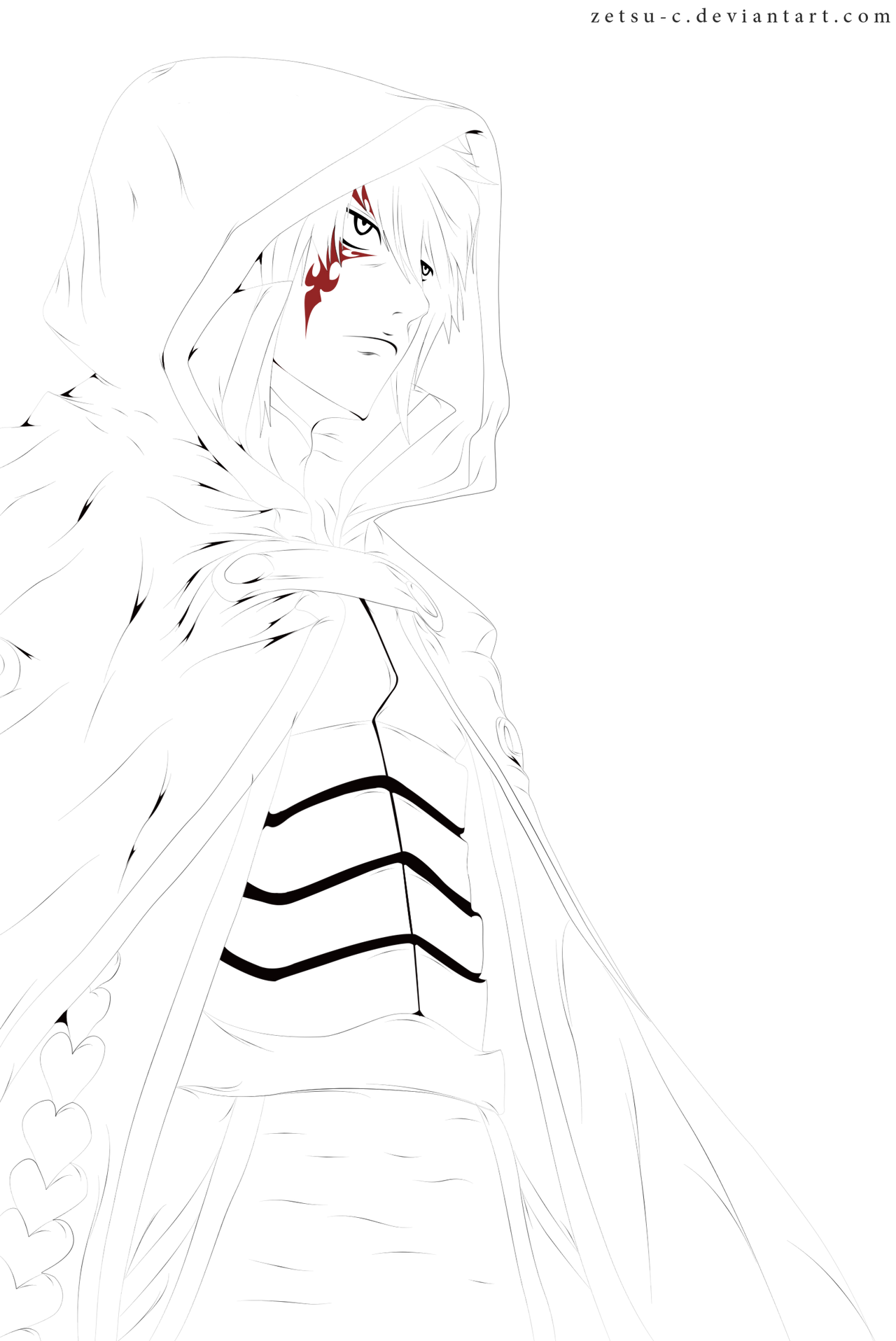 Fairy Tail 364 - Jellal Lineart by ZeTsu-c