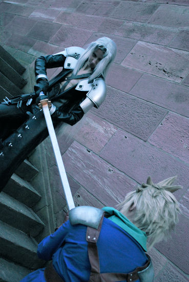 Sephiroth and Cloud - hate by Maryru