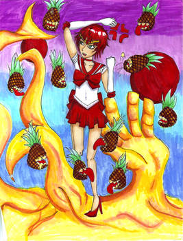 Sailor Gaara vs pineapples