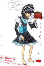 Lolita dress, L and tang cake