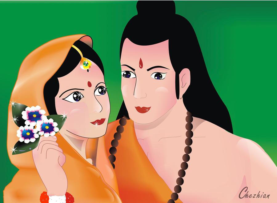 Ram And Seeta By RockyRajesh On DeviantArt