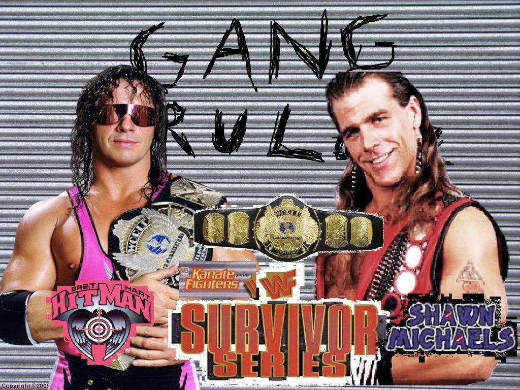 Wwe Survivor Series 1997 Bret Hart Vs Shawn Michae By