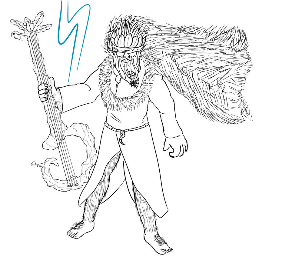 Rock and Roll Druid by Sheeperson