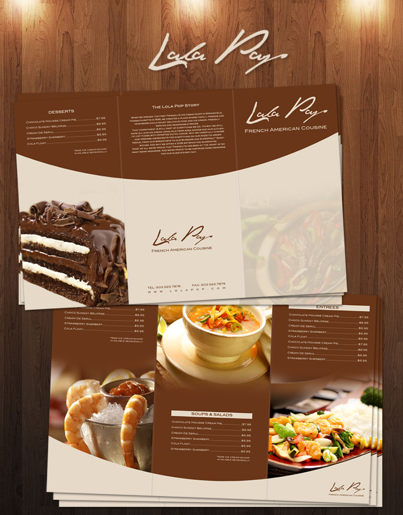 Lola pop restaurant menu by jayhem on deviantart for Artistic cuisine menu