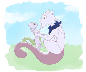 Uncle Mewtwo And Baby Mewtwo