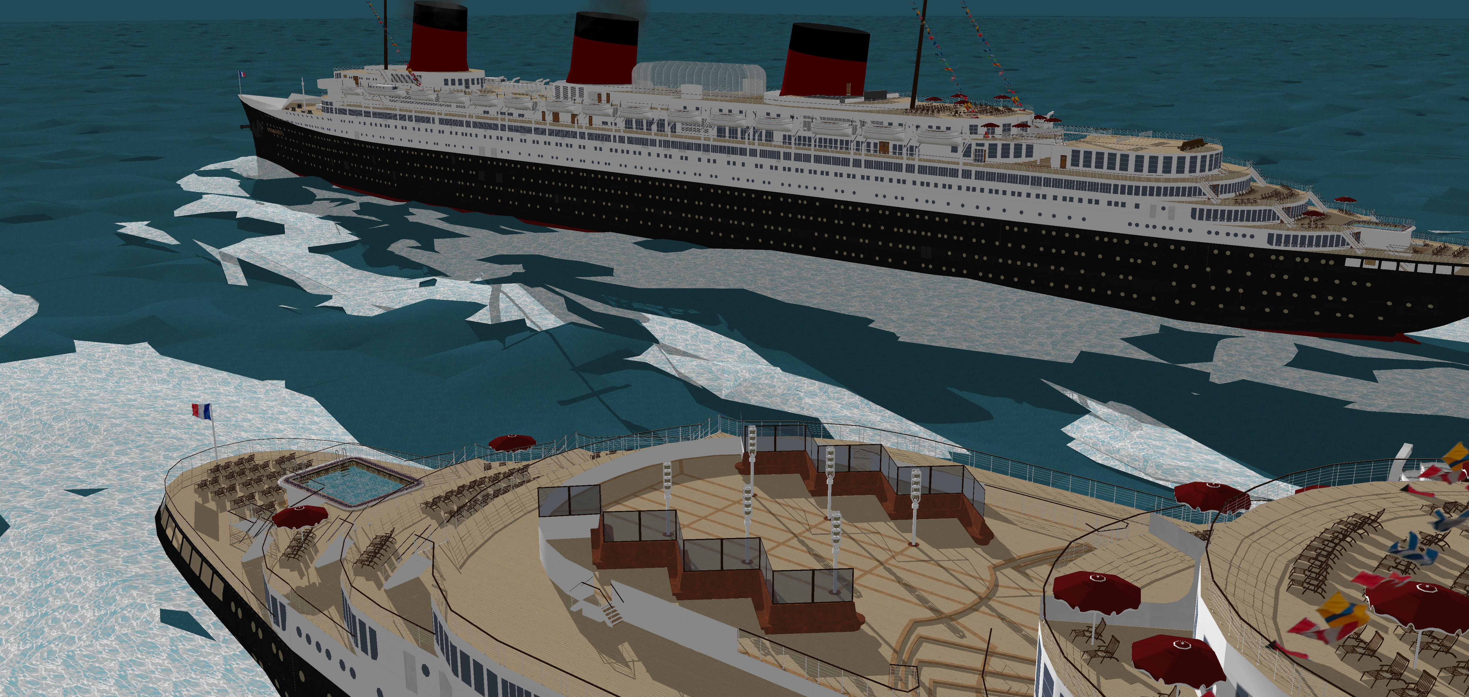 Ss Normandie 1935 And 1937 Verisons By Fabrizio3d On