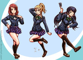 Love live U's Trio by TOTOOLTOULTO