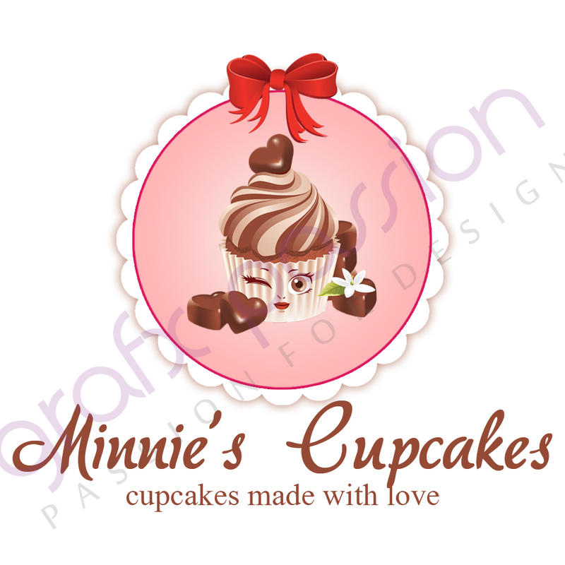 Cute Cupcake Logos Cupcake Logo by Grafxpassion