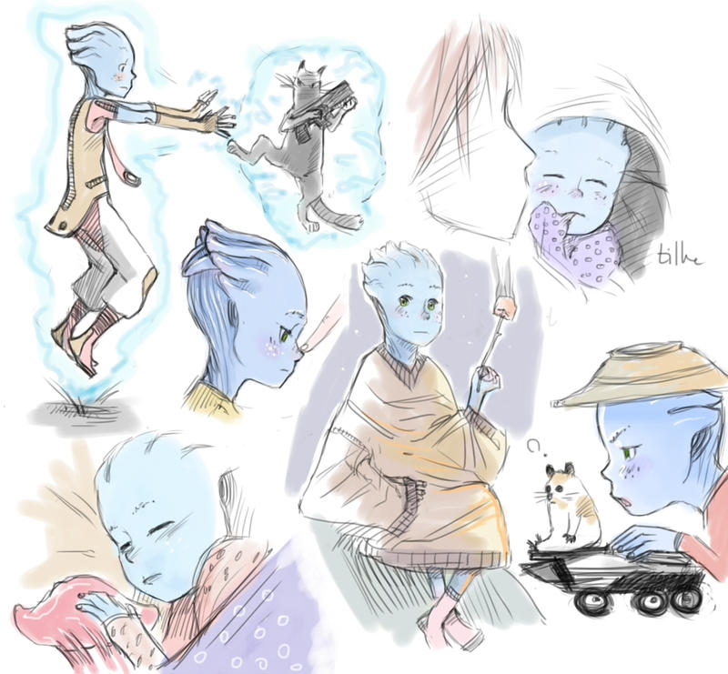 Asari Baby Blue baby doodle dump by tilhe