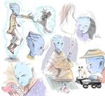 Blue baby doodle dump
