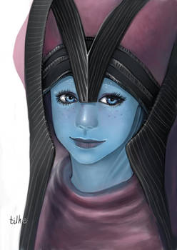 Baby Liara in Benezia's Headdress