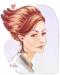 Quick doodle: asari crest hairdo (Ali Hillis)