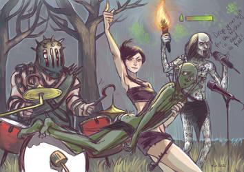 Rocking out in Huntsman's Copse (Dark Souls 2) by tilhe