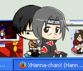Levi what are you doing with Itachi's hair...? o.e by XHanna-chanX