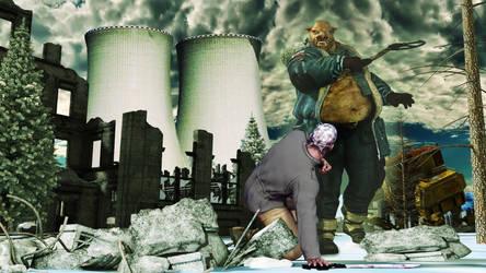 Gruntles the Nuclear Boar by leoshades