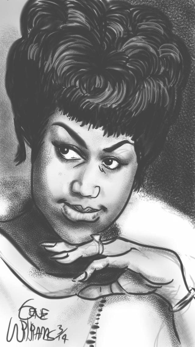 Aretha Franklin by Gwiz by Jamaicafunk