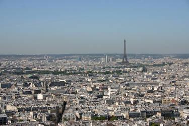 Paris from Sacre Coeur 1 by amerindub