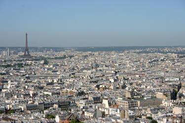 Paris from Sacre Coeur 2 by amerindub
