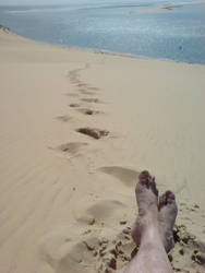 Footprints in the Sand by amerindub