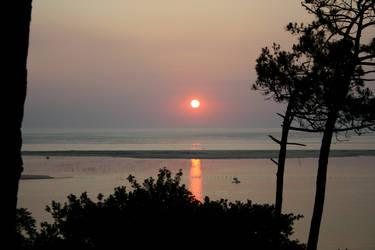Arcachon Basin Sunset 1 by amerindub