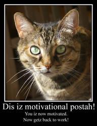 Motivational Kitteh alternate wording by amerindub
