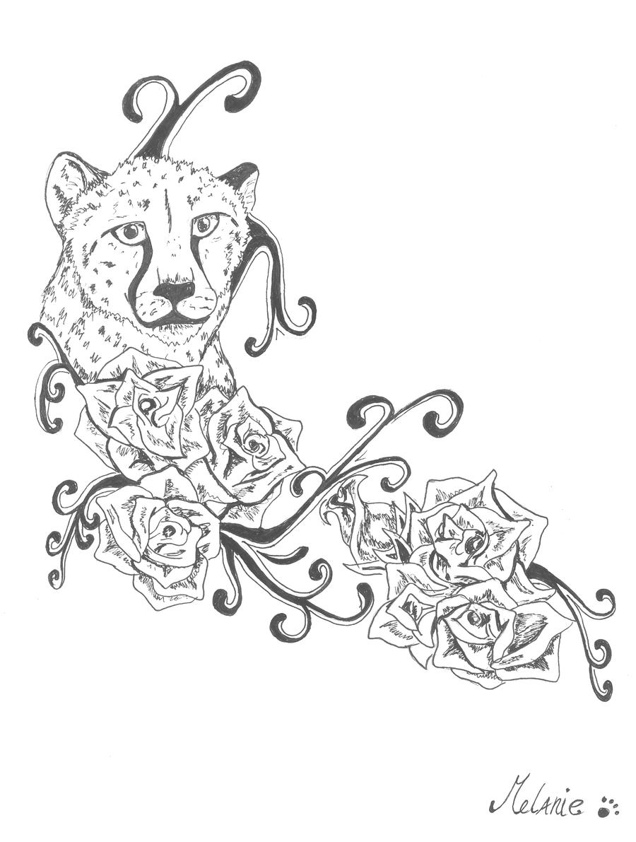 Cheetah Lower Back Tattoo