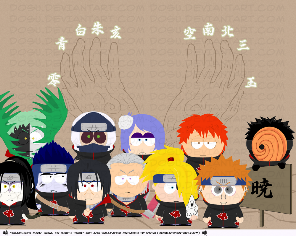 Akatsuki South Park Wallpaper by Dosu