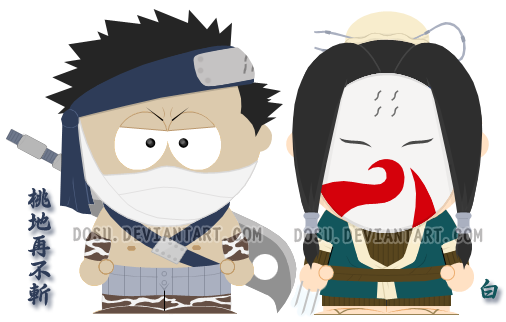 Zabuza - Haku South Park V.1 by Dosu