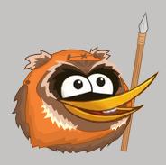 Angry Birds Star Wars - Ewok Orange Bird by Dosu