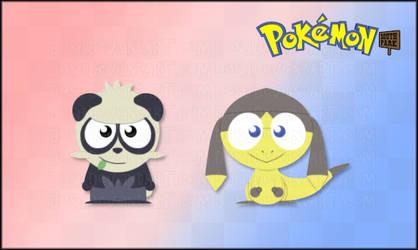 Pancham and Helioptile - Pokemon SP