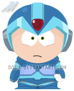 """Cool pictures Rated """"E"""" for everyone - Page 6 Mega_Man_X_South_Park_by_Dosu"""