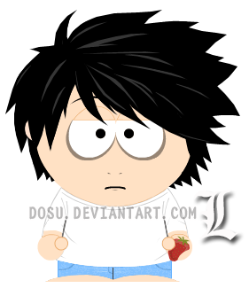 L - Death Note - South Park by Dosu