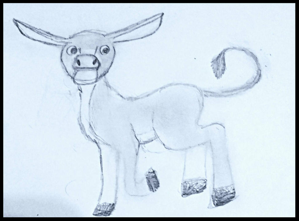 Little Donkey sketch by BlahBlahToucan