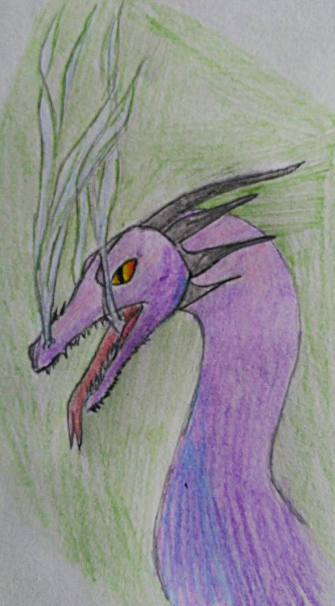 Purple Dragon by BlahBlahToucan