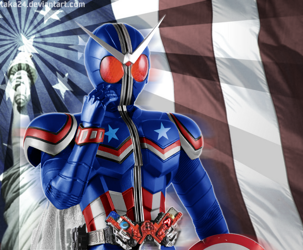 kamen rider w captain america form by taka24 on deviantart