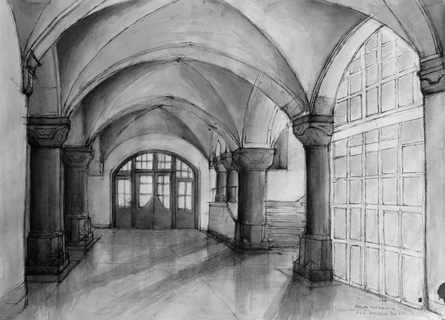 Hogwart's interior by BlueEyedSoul1