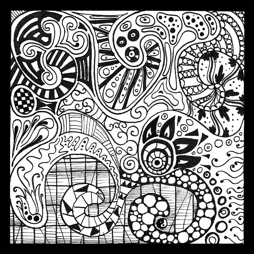 zentangle #3 by BlueEyedSoul1