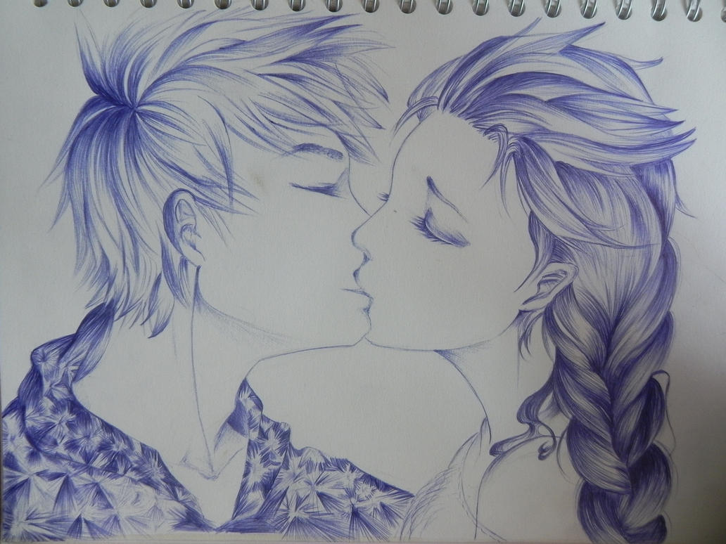Elsa and jack frost kiss by orhideart on deviantart elsa and jack frost kiss by orhideart thecheapjerseys Choice Image