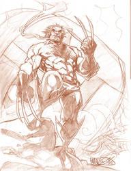 Wolverine Sentinal Sketch by MicahJGunnell