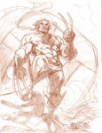 Wolverine Sentinal Sketch