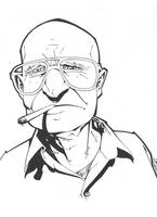 old cigarette man inked by MicahJGunnell
