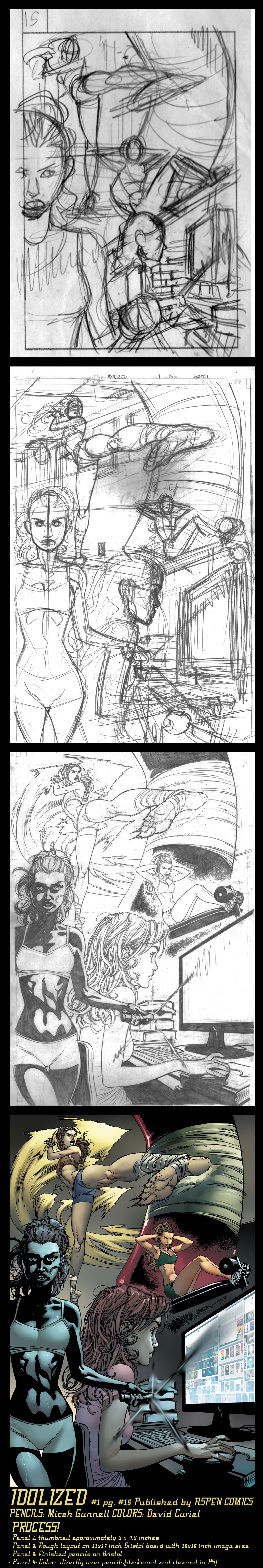 Idolized 1 pg 15 FULL PROCESS by MicahJGunnell