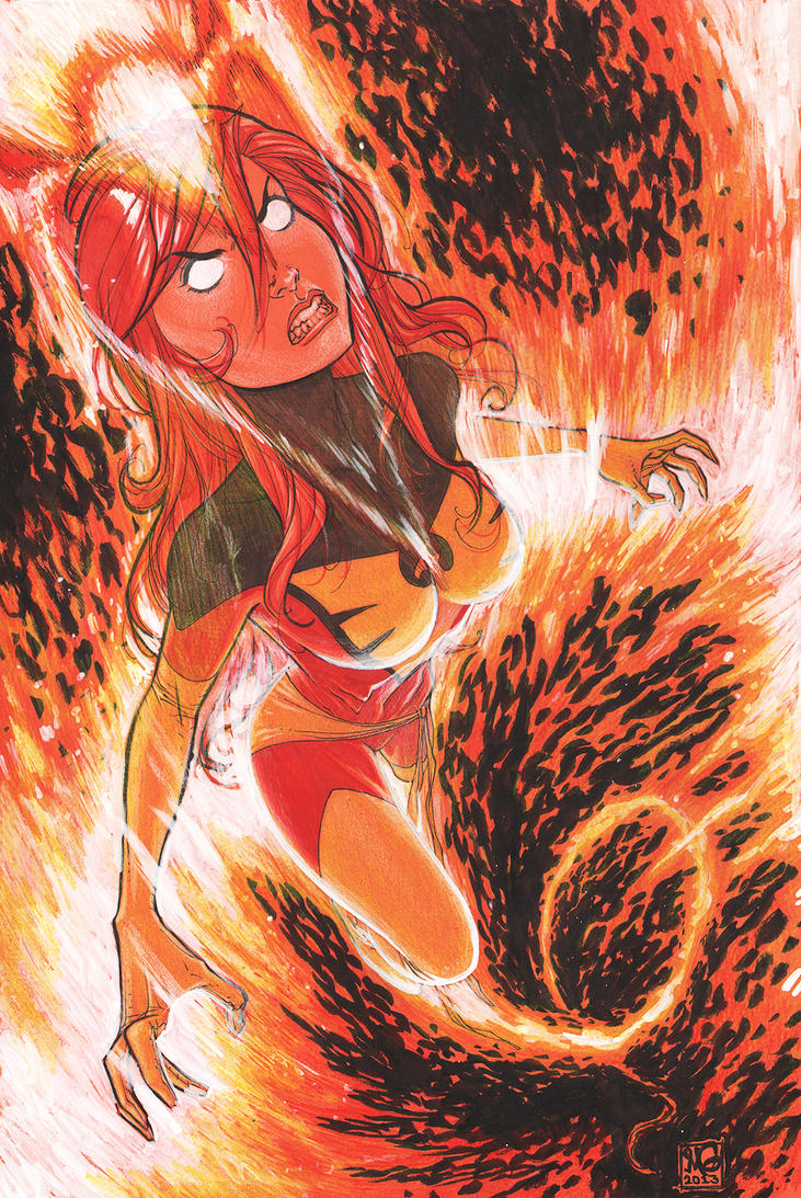 Dark Phoenix Commission by MicahJGunnell